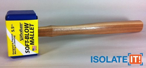 Sorbothane Soft-Blow Mallet for Furniture Construction and Woodworking (Small - 5.5oz)