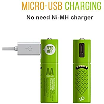 Amazon.com: Juice Rechargeable NiMH Batteries, Size AA, 4