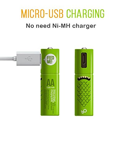 Smartoools Micro-USB Rechargeable AA/AAA Battery NiMH with C