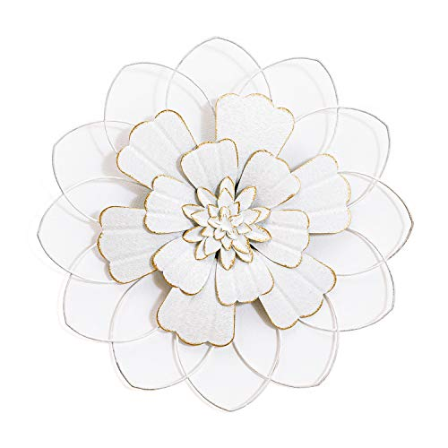 H HOMEBROAD. Large Metal Flower Decor Wall Hanging Decorations Indoor or Outdoor Wall Art Sculptures