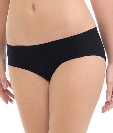 Commando Microfiber Mid Rise Bikini, S/M, Black