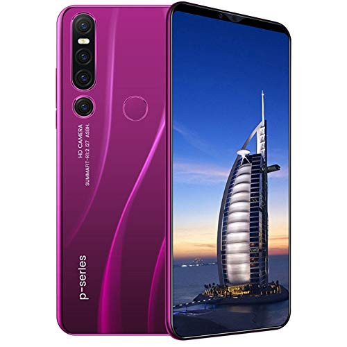 Baoer P46 pro 6.1 inch 8 + 128 Android Phone Large Screen Smart Phone Face Recognition Fingerprint Unlock Purple British regulatory