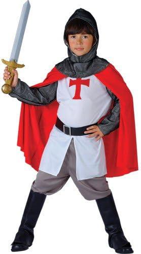 Richard - Disfraz de caballero templario para niño, talla S (EB ...