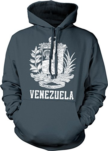 Venezuela, Coat of Arms, Law of the National Flag, Shield and Anthem Hooded Sweatshirt, NOFO Clothing Co. L Char