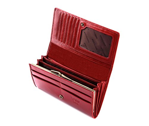 075 Leather Patent 3 Verona Collection 10x19 1 25 Wittchen Red Wallet Dimension 6Rwq5xZv