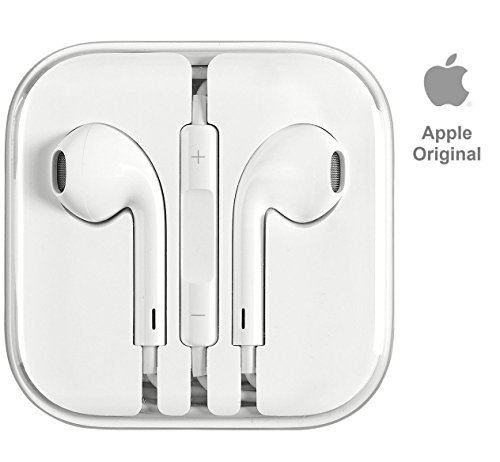 iPhone Earbuds Earphones with Volume Buttons and Microphone with 3.5mm Jack, for iPhone 5 6 6S Plus SE - Jewel Box - 100% Original (Not compatible with iPhone 7 and later models)