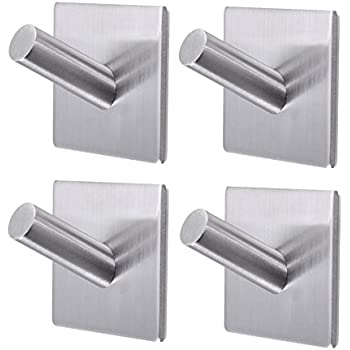 sumnacon 3m self adhesive bath hooks stainless steel bathroom towel hook 3m stick. Black Bedroom Furniture Sets. Home Design Ideas