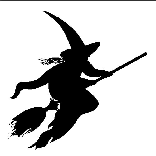 "Amazon Witch Decal Sticker Halloween Removable Wall Art, 22"" X 33"", BLACK"