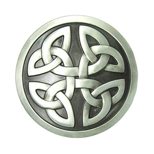 Round Celtic Knot Kilt Belt Buckle Western Keltic Buckles for Men Women