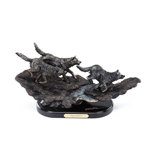 DEMDACO Marc Pierce Signature Collection Night Hunters, Wolf Sculpture