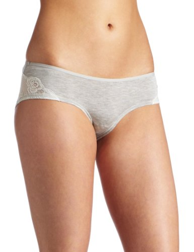 - Le Mystere Heather boyshort Panty, Gray, X-Large