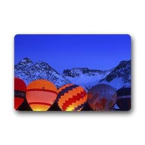 doubb personalizado globo de aire caliente ciudad casa Welcome Felpudo al aire libre interior 60cm x 40cm