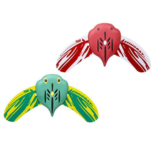 Aqua Mini Stingray Underwater Glider 2 Pack, Self-Propelled, Adjustable Fins, Pool Game, Brightly Colored, Ages 5 and up