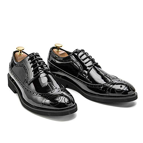 colorata in 2018 Jiuyue personalit brogue verniciata uomo incisione shoes con pelle da Scarpe w4gPq