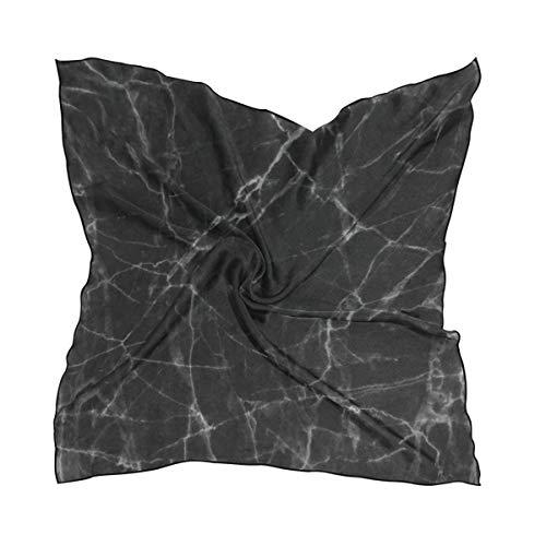 Scarf Black Marble Ladies Square Silk Scarves Shawl Wrap Girls for Women