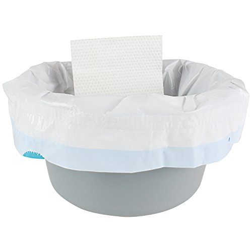 Folding Pail - Vive Commode Liners with Absorbent Pad (24 Pack) - Disposable Replacement Bag - Fits Standard Bedside Commode Pails and Folding Toilet Chairs - Absorbing Sheet Aids Splash Prevention - Universal Adult