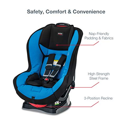 41fsC6uR4jL - Britax Allegiance 3 Stage Convertible Car Seat | 1 Layer Impact Protection - Rear & Forward Facing - 5 To 65 Pounds, Azul