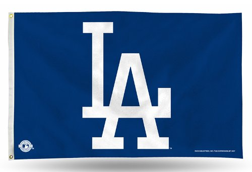 MLB Los Angeles Dodgers 3-Foot by 5-Foot Banner Flag