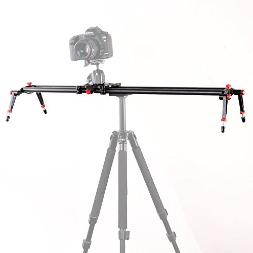 Fotga 32''/80cm Professional Carbon Fiber Slider Stabilizer for Dslr Camera Camcorder Video Filmmaker Tripod Ball head etc. by FOTGA