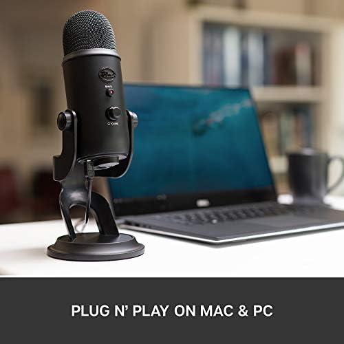 Blue Microphones Yeti 0.13-Watt USB Microphone, Blackout