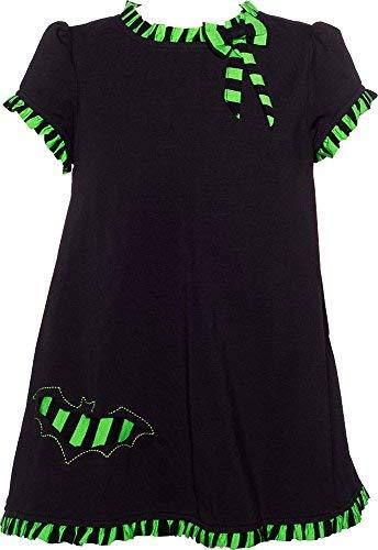 Black & Green Batty Wednesday Dress from Sourpuss Clothing, 4T