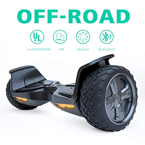 TOMOLOO Hoverboard with Bluetooth Speaker and LED Light, UL2272 Certified 6.5″ Two Wheels Electric Self Balancing Hover Boards for Kids and Adult (Red)