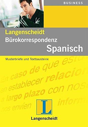 Langenscheidt Bürokorrespondenz Spanisch  Musterbriefe Und Textbausteine