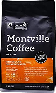 MONTVILLE COFFEE Hinterland Blend Plunger Ground Decaf Coffee, 250 g