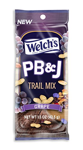 Welch's PB&J Trail Mix - Grape - Peanut Butter and Jelly Flavored Trail Mix 12ct/1.5oz Bags (Grape, 1.5oz) (Welch Natural Grape Jelly compare prices)