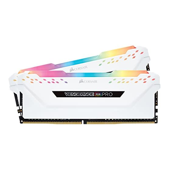 Corsair Vengeance RGB PRO 16GB (2x8GB) DDR4 3000MHz C15 LED Desktop Memory, White 41fsF1T4ULL. SS555