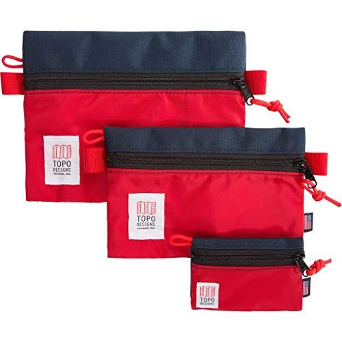 Topo Designs Accessory Bags | Navy/Red - Medium