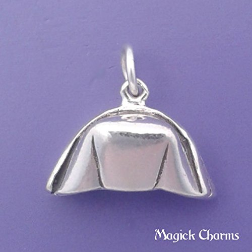 925 Sterling Silver 3-D Nurse Hat Cap RN RPN Charm Pendant Jewelry Making Supply, Pendant, Charms, Bracelet, DIY Crafting by Wholesale Charms
