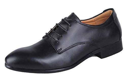Tda Pojkar Mens Klassiska Spets-up Mode Läder Oxfords Klär Affärs Formell Bröllop Skor Svarta