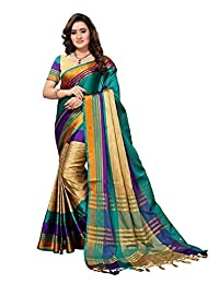 Mirraw Women's Cotton Silk Sarees with Blouse Pices