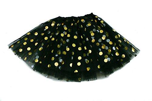 Polka Dot Tulle Skirt (The Hair Bow Company Girl Gold Polka Dot Tulle Tutu Skirt 11