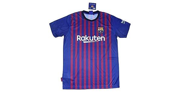 1720a3592896e Barcelona Camiseta Réplica Infantil Primera Equipación 2018 2019 - Dorsal  Liso - Producto Bajo Licencia  Amazon.es  Deportes y aire libre