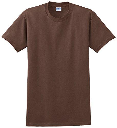 Gildan Men's Ultra Cotton Crewneck T-Shirt, Chestnut, X-Large (Chocolate Ash Grey T-shirt)
