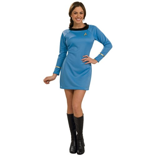 Star Trek Womens Costumes (Rubie's Costume  Star Trek Classic Deluxe Blue Dress, Adult Small)
