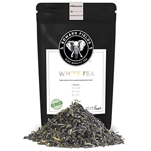 Edward Fields - Te Blanco Organico de alta calidad Cantidad 100g Formato Granel Origen Vietnam Detox, antioxidante, adelgazante