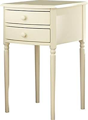 Amazon Com Set Of 2 Wood White End Tables Nightstands