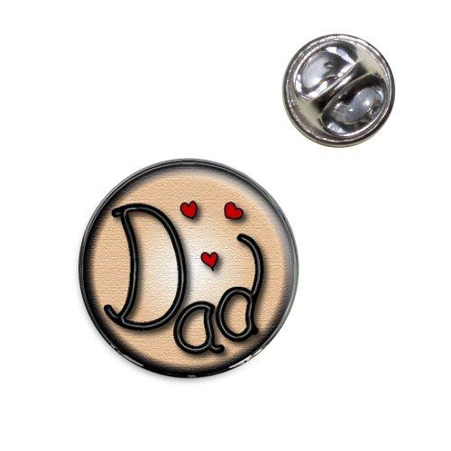 Dad Love Hearts Lapel Hat Tie Pin Tack - Dad Pin