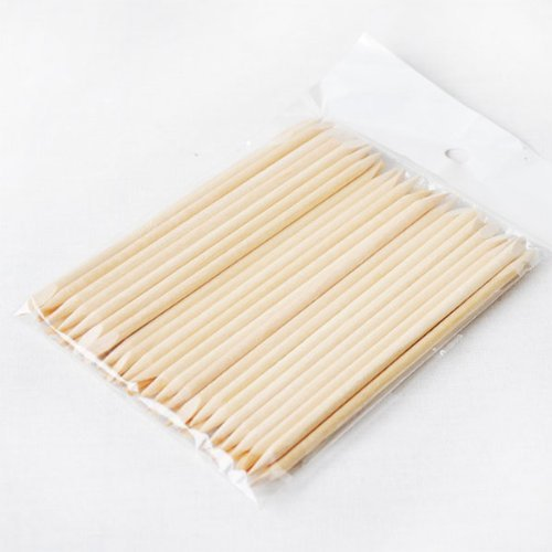 Fhouses 50PCS Wooden pedicure bastoni posteriore per nail art Tools nail Tool