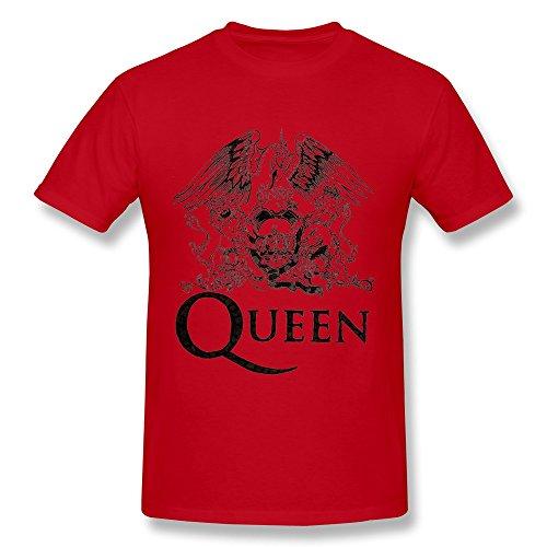 KAITIAN Queen Mercury Bohemian Rhapsody Men's Cotton T-shirt Red Size XXL