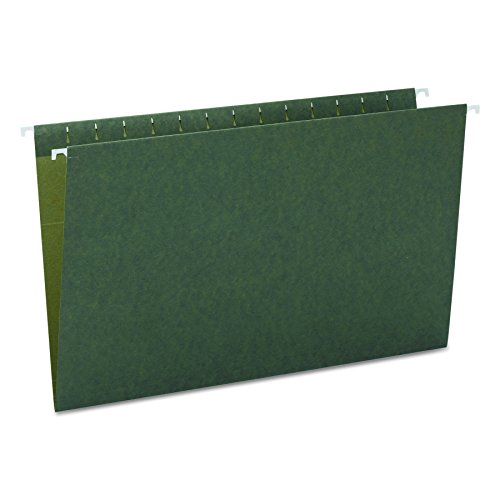 Smead Hanging File Folder, Legal Size(No tabs), Standard Green,  25 per Box (64110) by Smead