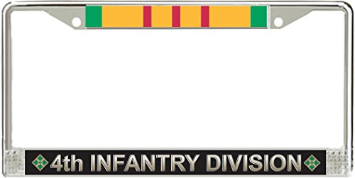 MilitaryBest 4th Infantry Division Vietnam Veteran Service Ribbon License Plate ()