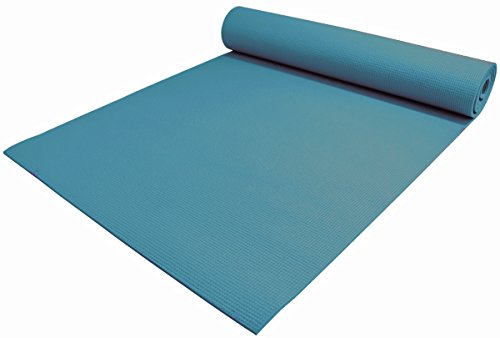 YogaAccessories 1/4'' Extra Thick High Density Premium Sticky Yoga Mat for Exercise and Fitness - Teal Green