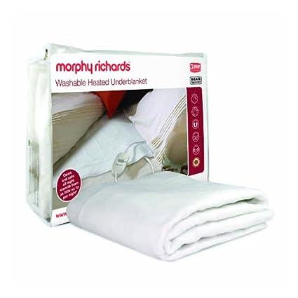 Morphy Richards 75184 - Manta eléctrica lavable (122 x 107 cm, doble)[