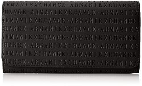 A X Armani Exchange Flap Over Wallet, black