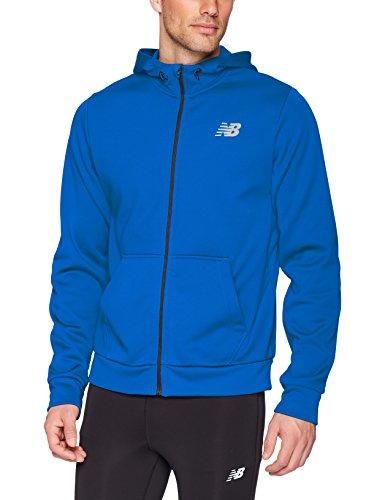 New Balance Men's Nb Core Fleece Full Zip Hoodie, Team Royal, Large - Mens Nb Zip