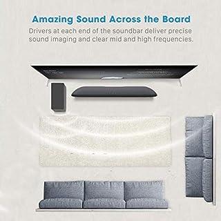 140Watt 2.1 Sound Bar, BYL TV SoundBar with Wired Subwoofer, Wired & Wireless Bluetooth 5.0 Speaker for TV, Bass Adjustable Surround Sound for Home Theater